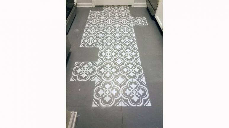 How To Make Your Old Ugly Linoleum Floor Look Like