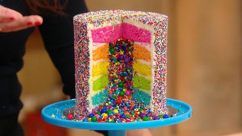 The Rainbow Explosion Cake Is Birthday Youve Never Had