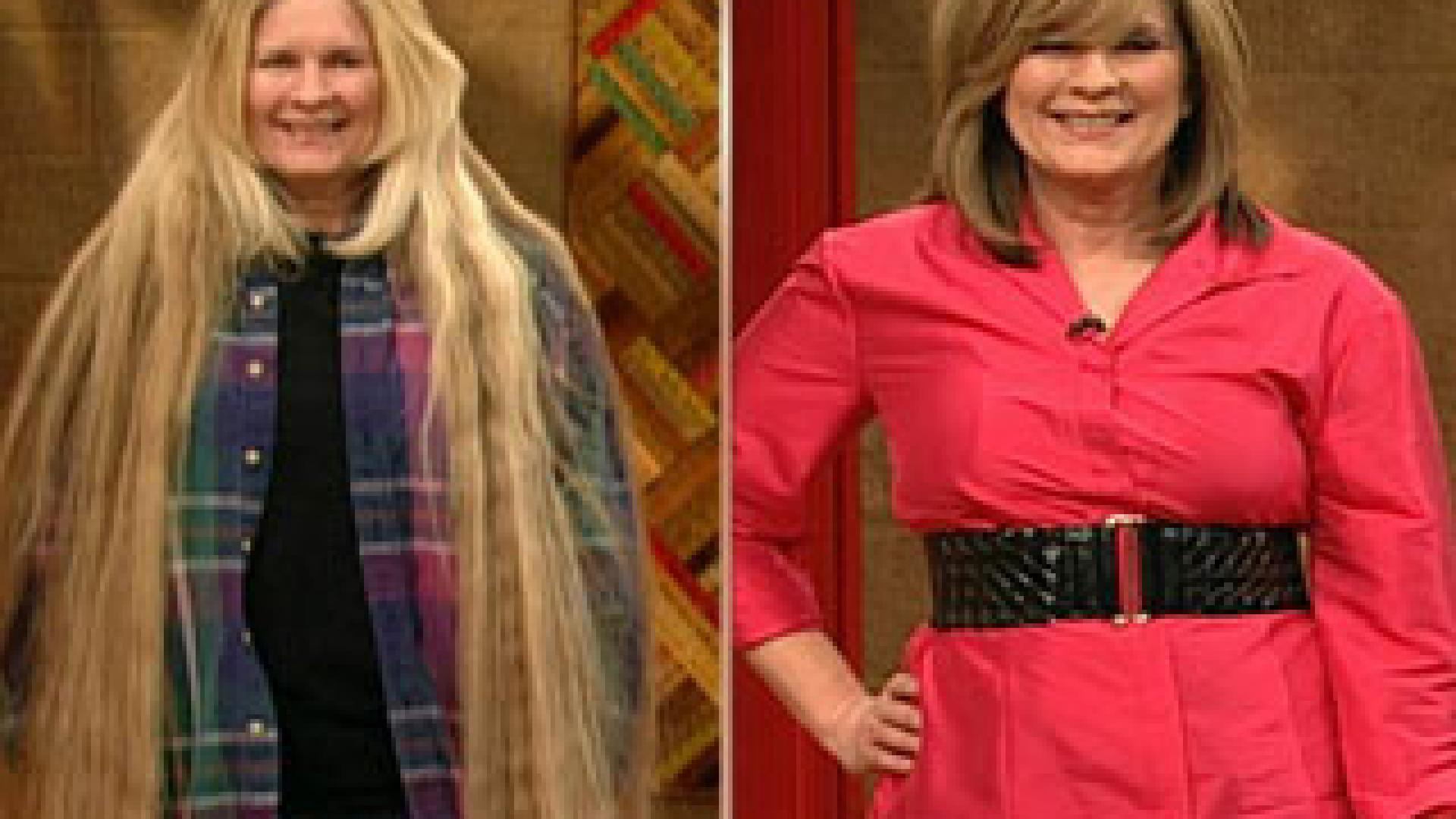 Update Irene S Floor Length Hair Makeover Rachael Ray Show