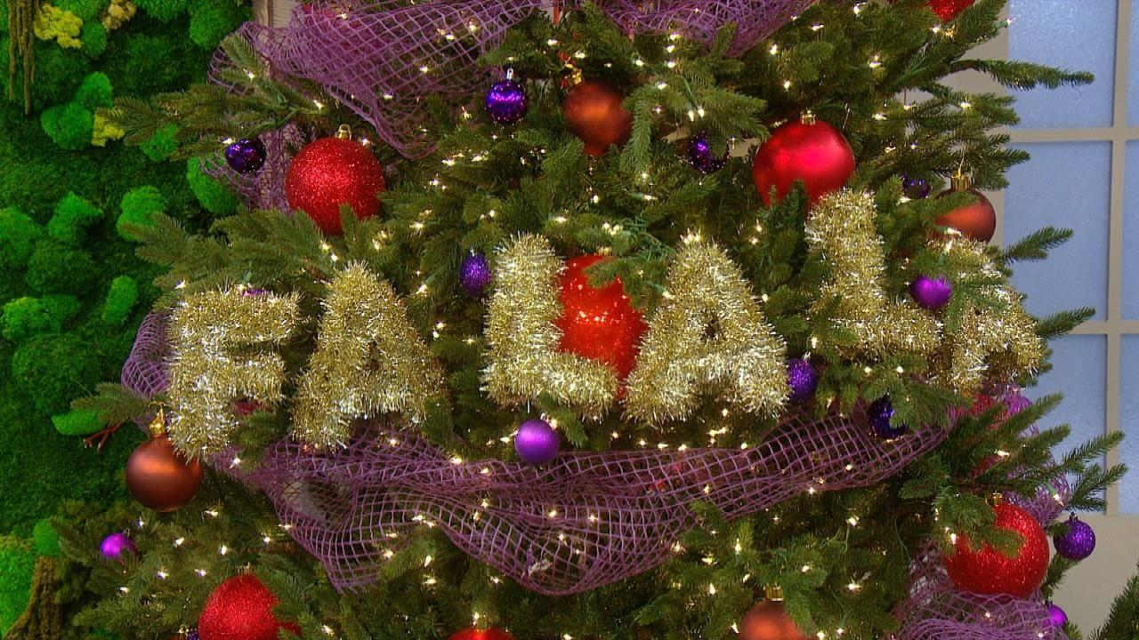 How To Make Tinsel Letter Garland For Your Christmas Tree Rachael