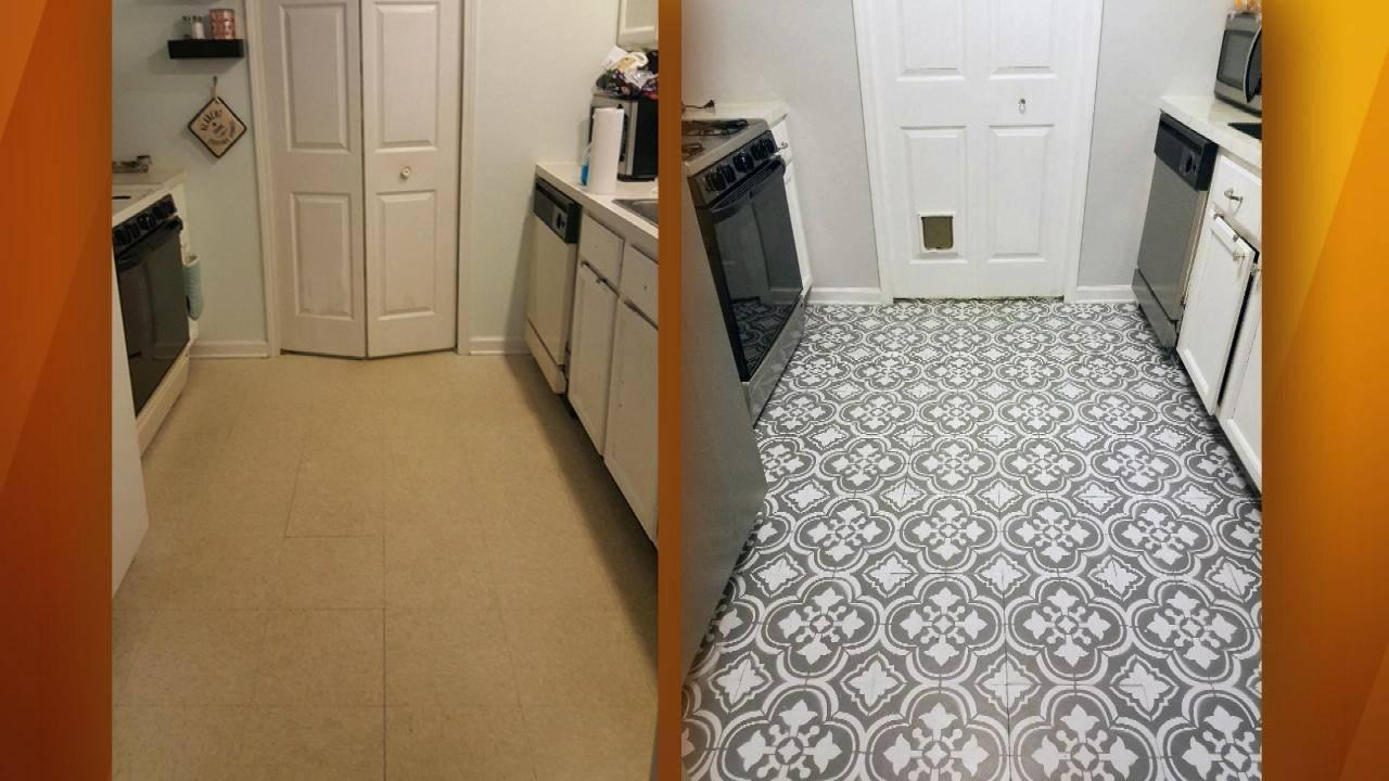 How To Make Your Old Ugly Linoleum Floor Look Like Expensive European Tile