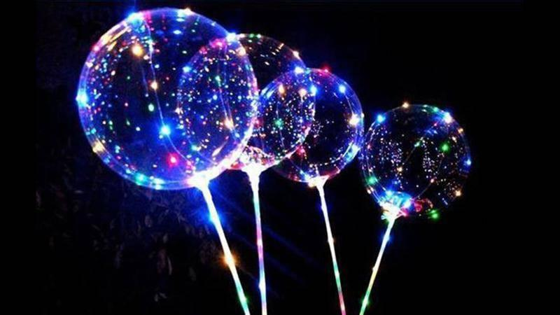We Tried It Bobo Led Balloons Look At Them Sparkle