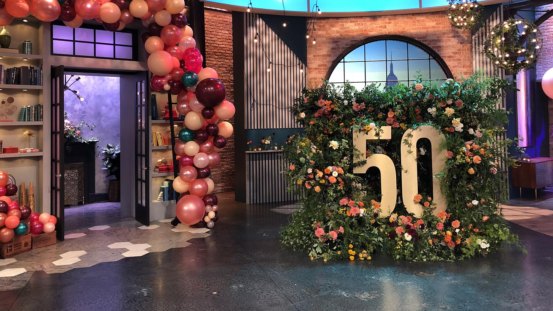 Watch Celebrity Party Planner Mary Giuliani Decorate Our Set For Rachs 50th Birthday