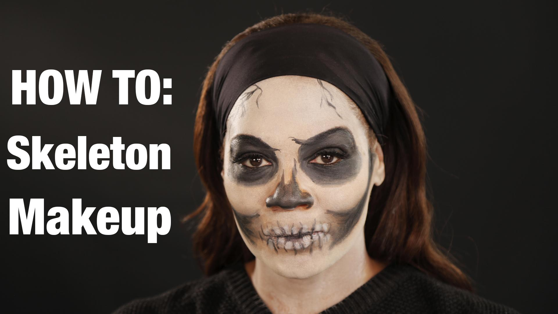 Halloween Makeup Tutorial: How To Do Skeleton Look Inspired