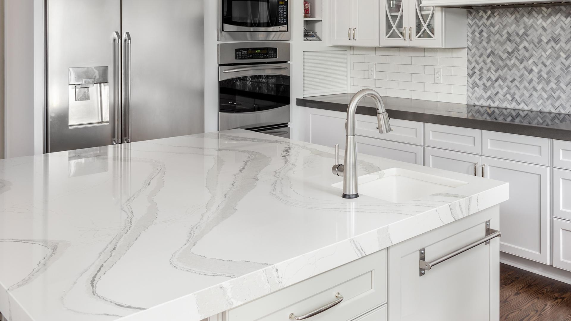 How To DIY Faux Marble Countertops For Under $100, According ...
