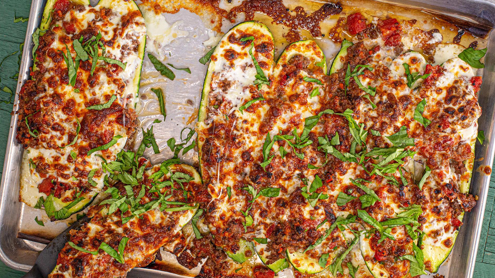 Keto Lasagna Style Stuffed Zucchini Rachael Ray Show
