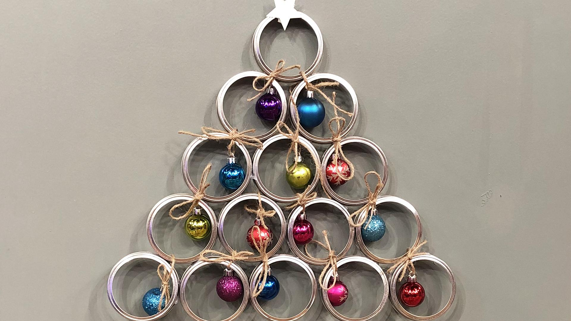 Diy Wall Christmas Trees 3 Ideas Perfect For Small Spaces Rachael Ray Show
